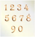 Copper number vector image