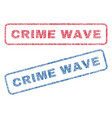 crime wave textile stamps vector image vector image