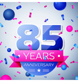 Eighty five years anniversary celebration on grey vector image vector image