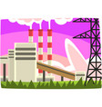 electricity generation plant fossil fuel power vector image