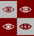eye sign bordo and white vector image vector image