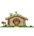 fabulous forest gnome hut vector image vector image