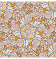 floral ornamental pattern in for coloring book vector image vector image