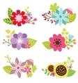 Floral set flower design elements vector image vector image