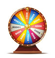 fortune wheel realistic 3d object casino vector image vector image