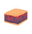 fruit dessert pie icon in cartoon style vector image