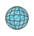 globe world icon in color crayon silhouette vector image vector image