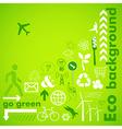 Go green card vector image vector image