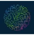 Go Vegan colorful vector image vector image