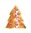 Gold And Red Christmas Tree Icon vector image vector image