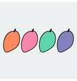 Hand drawn mango in doodle style vector image vector image