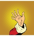 Hand of Santa Claus New year and Christmas vector image vector image