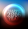 happy new year card in blur background vector image vector image
