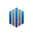 hexagon business logo vector image vector image