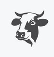 holstein cow portrait stylized symbol vector image vector image