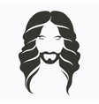 icon portrait of a man with a beard and a vector image