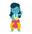 indian lord rama character traditional spiritual vector image vector image