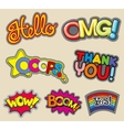 internet words embroidery stitched badges vector image vector image