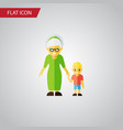 isolated grandson flat icon grandma vector image