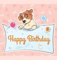 jack russell terrier llustration cartoon card vector image