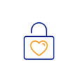 locker with heart line icon love symbol vector image