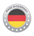 Made in Germany silver badge vector image vector image