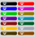 monitor icon sign Big set of 16 colorful modern vector image vector image