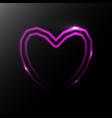neon heart icon vector image vector image