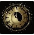New Year clock vector image vector image