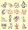 pen doodles vector image vector image