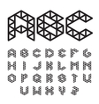 Polygonal Font Abc Alphabet vector image vector image