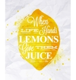 Poster fruit lemon vector image vector image