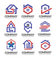 real estate logo property and construction vector image vector image