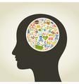 Science head vector image vector image