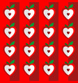 seamless pattern of hearts heart stylized in vector image