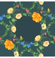Seamless pattern of rose flower wreath vector image vector image