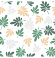 seamless stylized green and yellow leaves pattern vector image vector image
