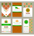Set of ethnic Indian banners in national colors vector image