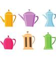 set of teapot icon tea symbol vector image