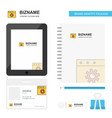 setting business logo tab app diary pvc employee vector image