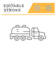 sewage truck line icon vector image vector image