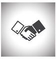 shake hand icon vector image vector image