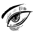 Sketch eye vector image