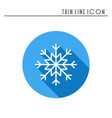 snowflake thin line icon new year celebration vector image