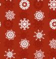 Snowflake Xmas Patter vector image vector image