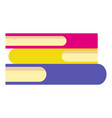 Stack of books icon flat style
