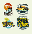 summer time beach life hand lettering vector image vector image