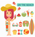 summer vacation play on beaches vector image vector image