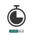 timer icon isolated on white eps 10 vector image vector image