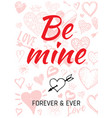 valentine s day card design with heart quote vector image vector image